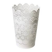 SKURAR  Фонарь для формовой свечи, белый