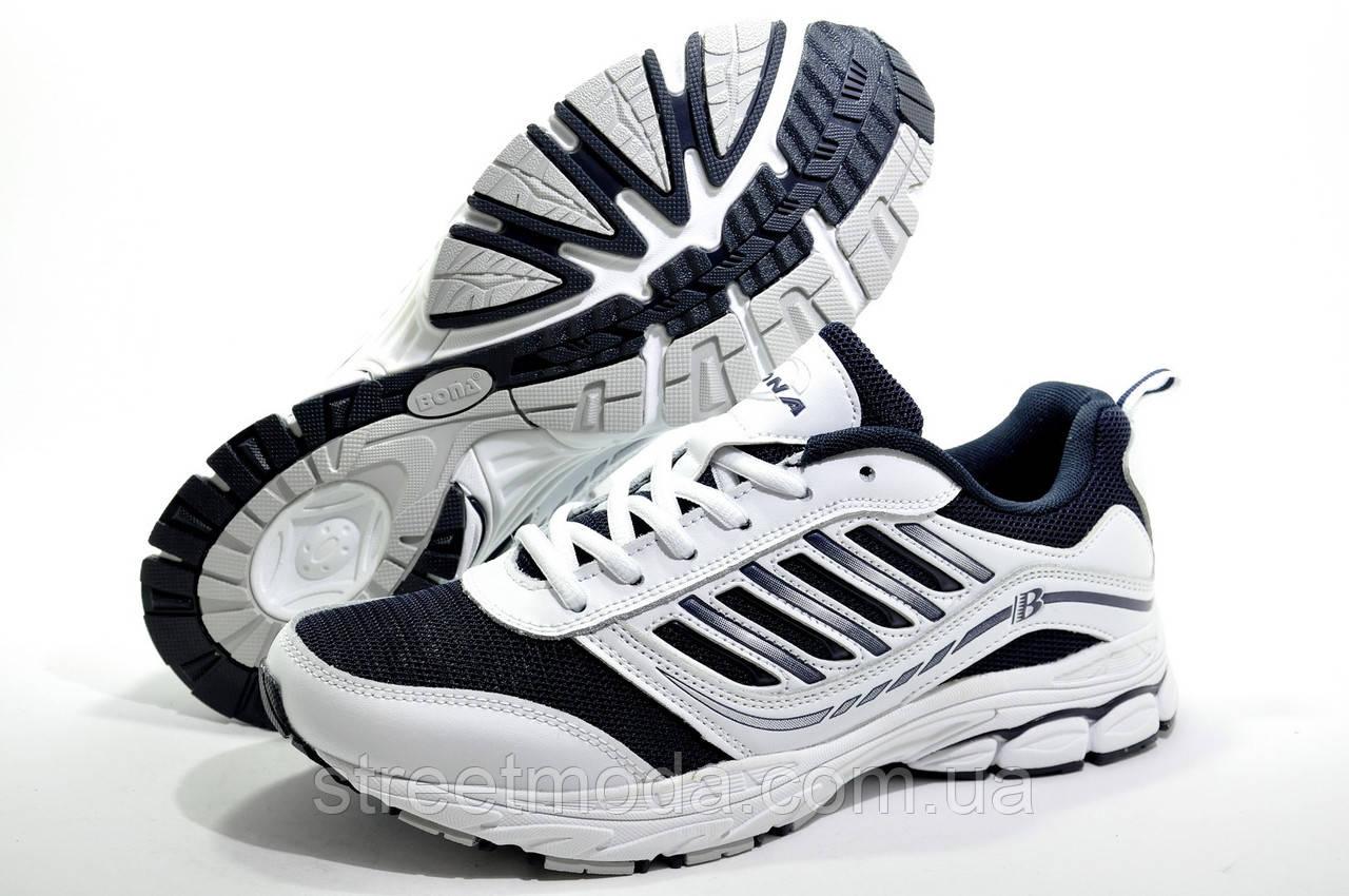 9df7eca0 Мужские кроссовки Bona, Белый/Синий (Сетка) - Интернет-магазин