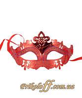 Маска карнавальная, красная