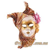 """Карнавальная маска """"Венецианская дама"""", золото"""