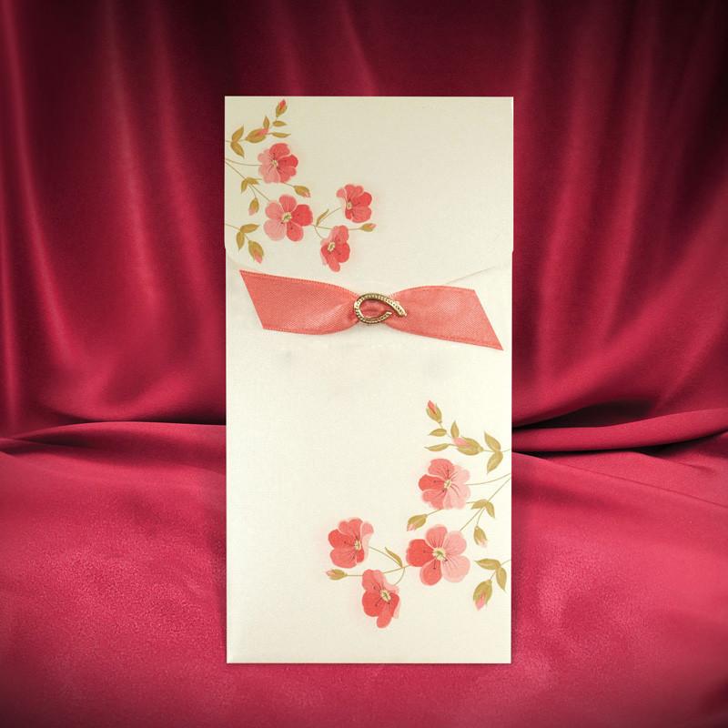 Пригласительные с розовыми цветами (арт. 2662)