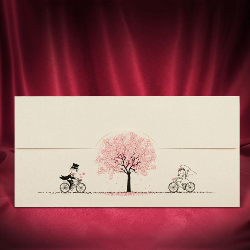 Забавні запрошення на весілля з велосипедами (арт. 2714)