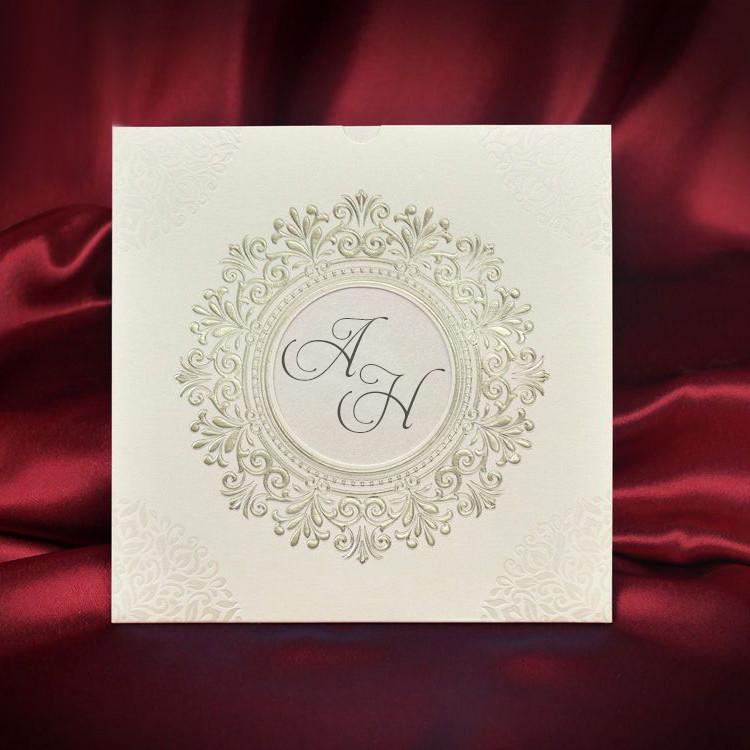 Красивые свадебные приглашения с узором (арт. 5535)