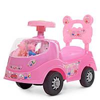 Каталка-толокар машинка с героями мультфильма Свинка Пеппа 228-8 Гарантия качества Быстрая доставка