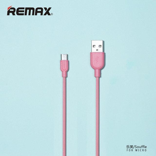 Кабель USB-MicroUSB Remax Souffle RC-031m 1m 5-079 Pink