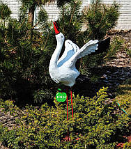 Садовая фигура Семья садовых аистов в гнезде №1, фото 3