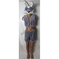 """Детский костюм """"Серенький зайчик"""", меховой"""