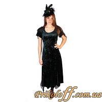 """Платье женское """"Изумрудное велюровое"""", было в прокате"""