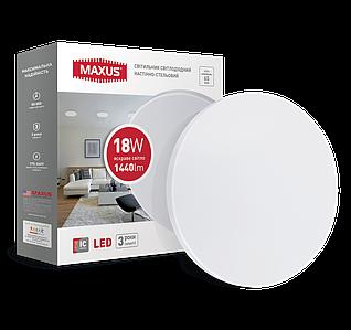 Светильник потолочный светодиодный  MAXUS тонкий 4100K 18W Круг