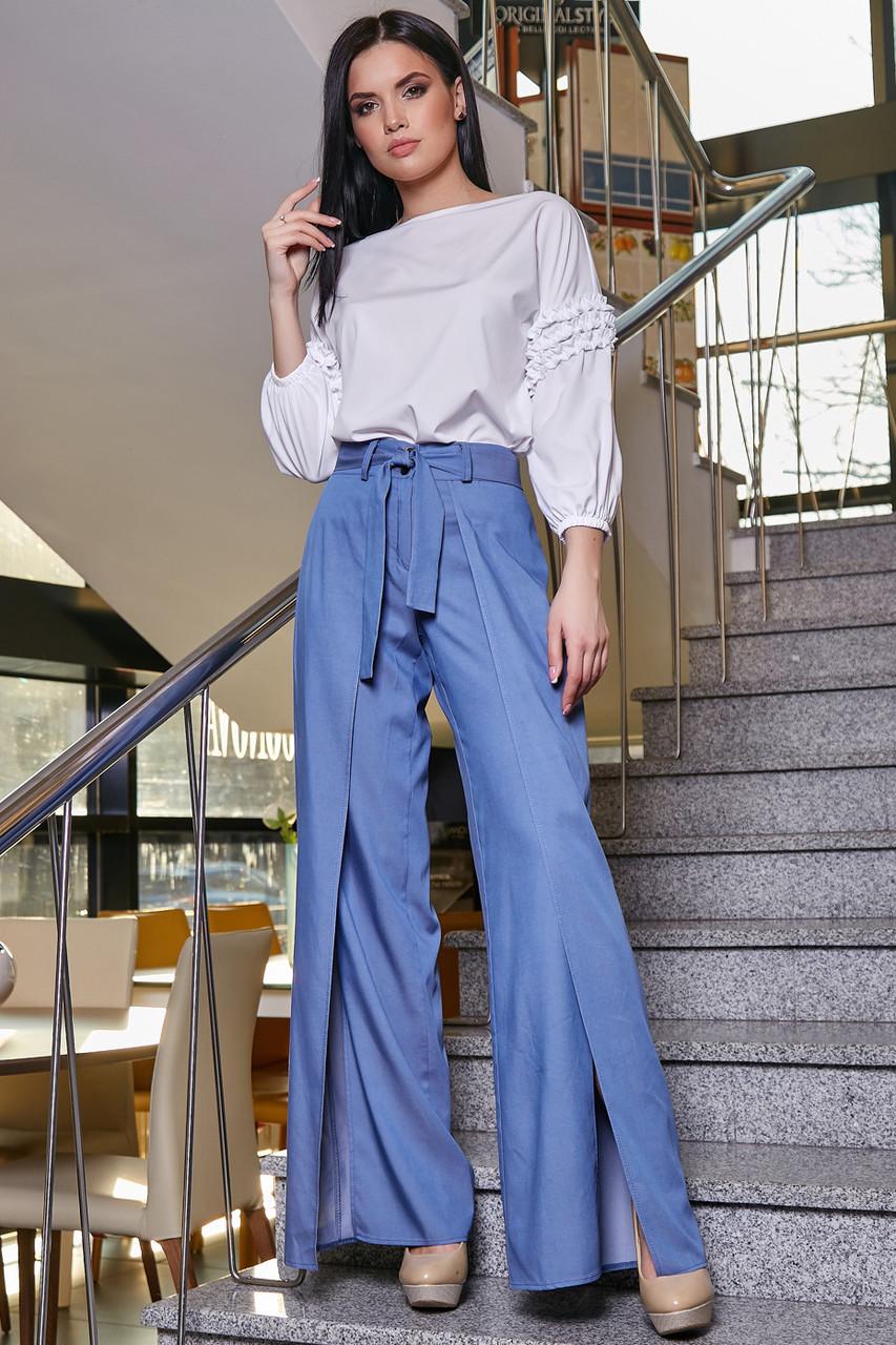 Модные женские брюки  3350 синий