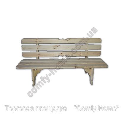 Стол с лавками деревянный (закруглённый), фото 3