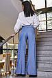 Модные женские брюки  3350 синий, фото 4