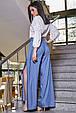 Модные женские брюки  3350 синий, фото 3