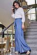 Модные женские брюки  3350 синий, фото 2