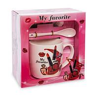 Чашка фарфоровая Мода и стиль 300 мл в подарочной коробке MUG-211/1
