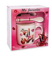 Чашка фарфоровая Мода и стиль 300 мл в подарочной коробке MUG-211/2