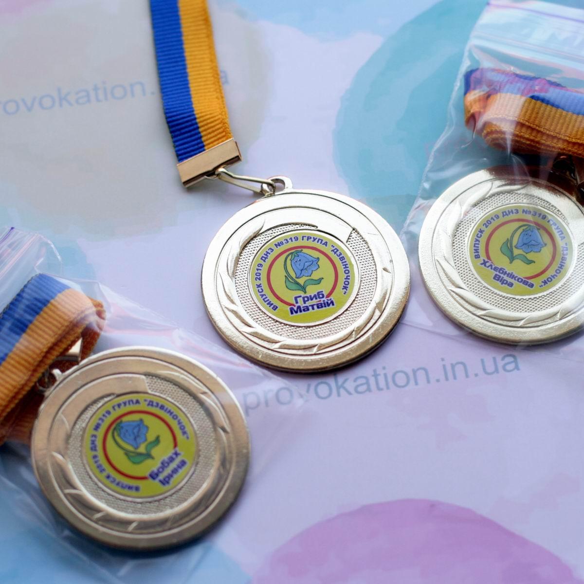 Металлические медали для выпускников