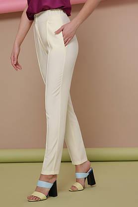 Женские брюки со стрелками на резинке желтые, фото 3