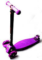 Детский самокат MAXI, светящиеся колеса, фиолетовый, фото 1
