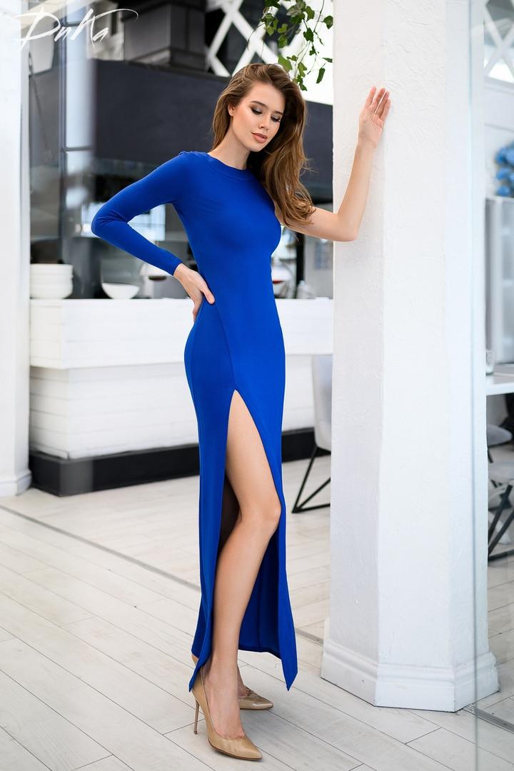 Платье вечернее выпускное длинное красивое креп дайвинг с напылением размер:42,44,46,48