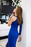 Платье вечернее выпускное длинное красивое креп дайвинг с напылением размер:42,44,46,48, фото 2