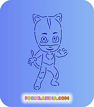 Трафарет + форма Герої в масках №1