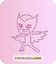 Трафарет + форма Герої в масках №2