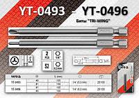"Биты ""TRI-WING"" 1/4"", 1х100 мм, 3х100 мм, YATO YT-0496"