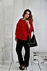 Красная блуза 0412-2 большой размер, фото 3