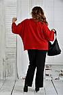Красная блуза 0412-2 большой размер, фото 4