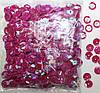 Пайетки круглые. Цвет - розовый темный с голограммой (тиснение), Ø - 6 мм, уп/20 грамм. №83