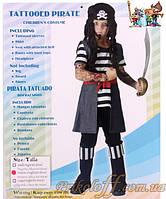 """Детский костюм """"Татуированный пират"""" (рост 120-130)"""