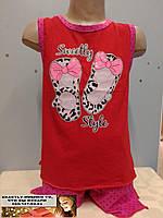 Летний детский костюм  с шортами для девочки 4 - 5  лет