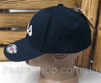 """Мужская котоновая кепка в стиле """"Fila"""" (копия) синего цвета, сезон весна-осень, большая вышивка, регулятор, фото 2"""