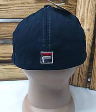 """Мужская котоновая кепка в стиле """"Fila"""" (копия) синего цвета, сезон весна-осень, большая вышивка, регулятор, фото 3"""