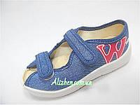 """Детские текстильные тапочки, мокасины, сандали, текстильная обувь для мальчика тм """"Валди"""", размеры 25.."""