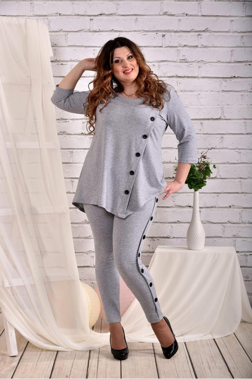 Сіра блузка великого розміру 42-74