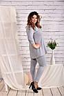 Сіра блузка великого розміру 42-74, фото 3