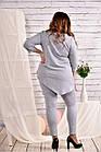 Сіра блузка великого розміру 42-74, фото 4