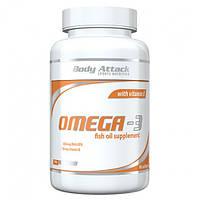 Рыбий жир, Омега Body Attack Omega-3, 90kaps