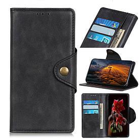 Чехол книжка для Samsung Galaxy A70 A705FD боковой с отсеком для визиток, Classic style, черный