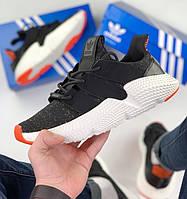 Мужские кроссовки Adidas Prophere black orange. Живое фото. Реплика ААА+