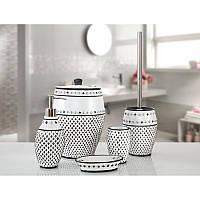 Комплект в ванную Irya - Ottova gri серый (5 предметов)