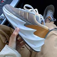 Женские кроссовки Adidas Shark Reef Grey. Живое фото. Реплика