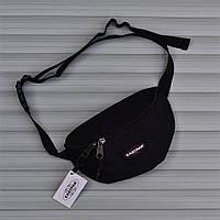 Мужская сумка бананка Eastpak Springer черная. Живое фото (Реплика ААА+), фото 1