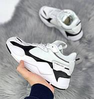 Жіночі кросівки Puma RS x Toys White Black. Живе фото (Репліка ААА+)