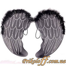Крила Ангела, чорний капрон 50 x 35 см