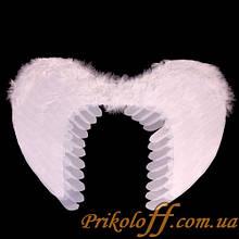 Крила Ангела, білі тканинні пір'я 60*45 см