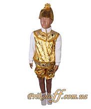 """Детский костюм """"Колокольчик"""", золото"""
