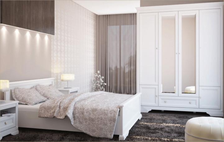 """Спальня в білому кольорі """"Клео"""" від Гербор"""